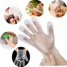 100-1000pcs Clear PE Gloves Home Plastic Food Service Safety Work Sanitary Large