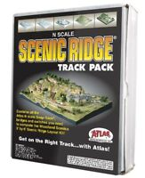 Atlas 2588, N Scale, Scenic Ridge Track Pack for Woodland Scenics Layout