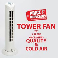 "29"" Oscillating Electric Cooling Tower Fan Air White 3 Speed with Timer Pedastal"