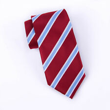 Red & Blue Formal Business Striped 3 Inch Tie Necktie Mens Professional Fashion