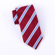 MPWC2404 BG Striped College Woven Silver /& Black Tie