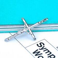 "925 Sterling Silver 2"" Large Crucifix Cross Pendant"