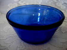 Beautiful ANCHOR HOCKING Cobalt Blue Glass Bowl- Made in U.S.A. - MORE AVAILABLE