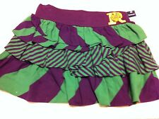 Polo Ralph Lauren Girl's Skirt~Green/Purple Striped w/Ruffles~Size L (12-14)~NWT