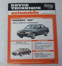 Revue technique automobile RTA 486 1987 Peugeot 405 1580 & 1905 cm3 carburateur