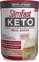 SlimFast Keto Meal Replacement Shake Powder-Vanilla Cake Batter,12.2Oz,10Serving