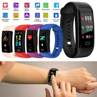 Sport Waterproof Fitness Activity Tracker Smart Band Watch w/ Heart Rate Monitor