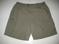 COLUMBIA PACKABLE OMNI-DRY womens shorts M 10-12 W31 HIKING Camp quick dry FISH