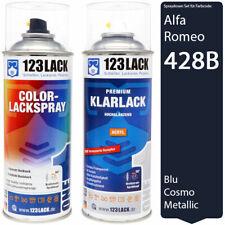 Autolack Lackspray Set Alfa Romeo 428B BLU COSMO Metallic Spray + Klarlack