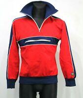 JOFA Norway SKI Fashion Jacket Red 1/4 Zip 70s Vintage Retro Nylon Cotton Mens L