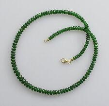 Chromdiopsidkette grüner Chrom-Diopsid aus Russland Halskette für Damen 46 cm