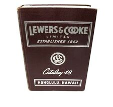 LEWERS & COOKE Catalog #48 Honolulu Hawaii 1948 ASBESTOS Roll Sheets Shingles