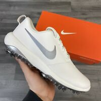 NIKE WOMENS ROSHE G TOUR GOLF SHOES WHITE SILVER UK6 US8.5 EUR40 AR5582-100