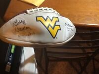 West Virginia Bobby Bowden and Don Nehlen Signed Football
