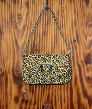 90s Purse Baguette Style Shoulder Bag Leopard Print HDG Heckathorn Design Group