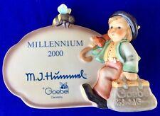 """Hummel """"Millennium Plaque Merry Wanderer"""" Full Artist Signiture Mint In Box"""