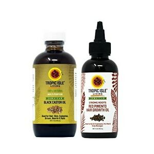 Tropic Isle Living - RED PIMENTO HAIR GROWTH 4oz  + JAMAICAN BLACK CASTOR OIL4oz