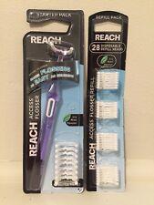 Reach Access Daily Flosser Starter Pack + Reach Flosser Refills 28 Disposable
