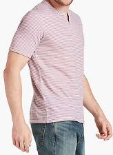 NWT Lucky Brand Men's Striped North Shore Notch Short Sleeve Shirt XL New