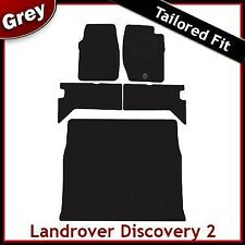 Landrover Discovery 2 (1998 ... 2003 2004) Tailored Fitted Car + Boot Mats GREY