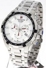 Swiss alpine Military Sam70439132 Armbanduhr Uhr Herren Chronograph Edelstahl