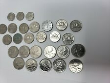 Canadian Coin Collection Lot Rare Dimes, Nickels, Quarters, 1940's, 1960's more