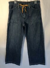 Lucky Brand Womens Jeans Clamdigger Crop Wide Leg Draw String Wide Pockets Sz 10