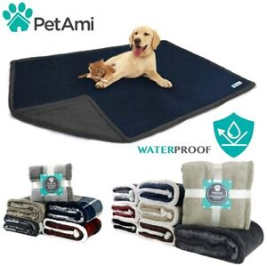 WATERPROOF Pet Blanket for Large Dogs Cat Soft Warm Sherpa Fleece Protect Couch