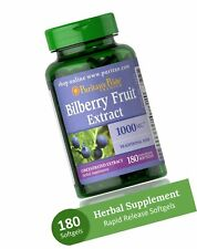 BILBERRY EXTRACT 1000 mg Vitamins Eye Care Vision Health Supplement 180 Softgels