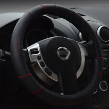 15''/38cm M Auto Car True Genuine Leather Steering Wheel Cover Comfortable Grip