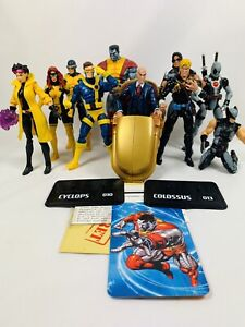 Marvel Universe  3.75 inch 3 3/4 Lot of 10 Xmen First class, x force, colossus