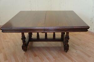 ANTIK Gründerzeit Tisch Tafel Verlängerbar bis 370 cm 1890 restauriert + 5 Verlä