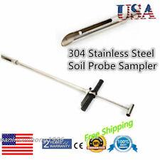 304 Stainless Steel Soil Probe Sampler Soil-boring Drill with Foot Peg Probing