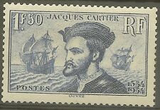 "FRANCE STAMP TIMBRE 297 "" JACQUES CARTIER, BATEAU, CANADA 1F50"" NEUF xx TTB B478"