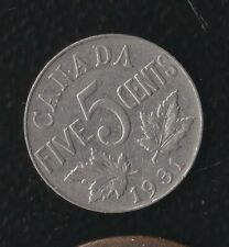 CANADA 5 CENTS 1931