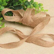 10M Natural Jute Hessian Burlap Ribbon Rustic Wedding Floristry Decor 2.5cm
