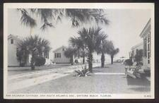 POSTCARD DAYTONA BEACH FL SAN SALVADOR TOURIST COTTAGES MOTEL MOTOR COURT 1930'S