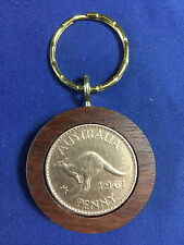 1961 Birthday Gift Present Jarrah Australian Penny Keyring other years available