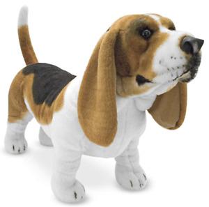Melissa & Doug Basset Hound Plush Stuffed Animal Dog New