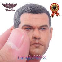 Custom 1/6 Matt Damon Male PVC Head Sculpt  For 12'' Body  Action Figure Hot Toy