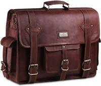 Hulsh Leather Messenger Bag for Men – Vintage Laptop Bag Leather Satchel for Men