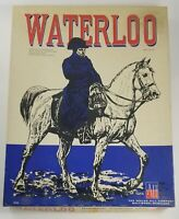 """VINTAGE 1962 Avalon Hill BOARD GAME """"Waterloo""""  #516, Punched, Very Good."""