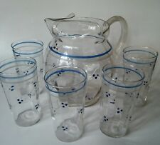 Macbeth Evans American Sweetheart Style Pitcher And Glasses