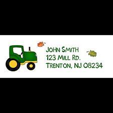 30 Return Address Labels - Tractor Design