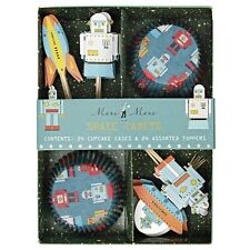 Meri Meri - Robot Astronaut Cupcake Cases and Toppers (Set of 24) - Space Cadets