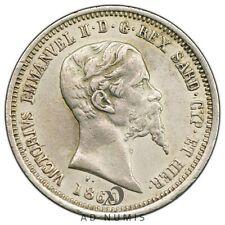 50 centesimi 1860 M Milan Vittorio Emanuele Sardaigne Italie SUP - Argent