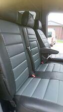 Ford Transit Custom Passform Sitzbezüge Autositzbezüge Kunstleder schwarz-grau