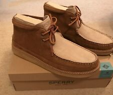 SPERRY FOR J.CREW CREPE SOLED LEATHER CHUKKA BOOTS TAN STONE SIZE 11,5M J8274
