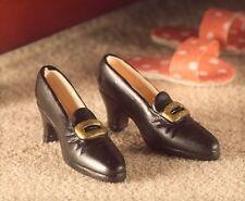 1:12 Scale Pair Of Black Ladies Shoes Dolls House Miniature Clothing Footwear