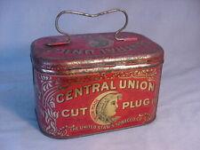 Antique Central Union Cut Plug Tobacco Tin Pail